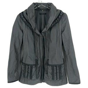 Elie Tahari charcoal Jacket Hooded Parka